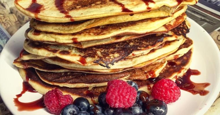 Cytrynowe pancakes – wegańskie