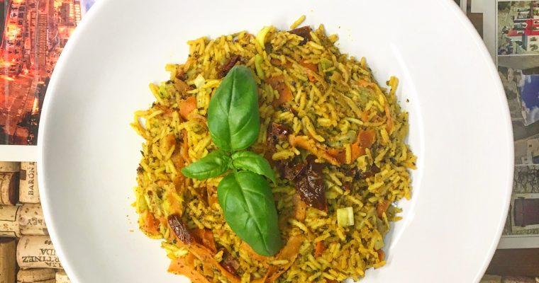 Aromatyczny ryż curry z warzywami