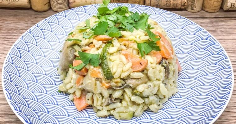 Risotto z warzywami i kozim serem
