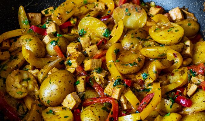 Warzywne curry z ziemniakami